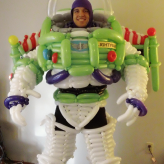 Buzz Lightyear, Space Ranger.  Balloon Costume 2011.