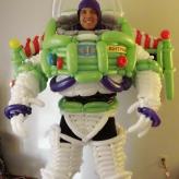 Buzz Lightyear, Space Ranger.  Balloon Costume 2011.